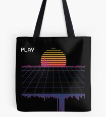 outrun synthwave cyberpunk Tote Bag
