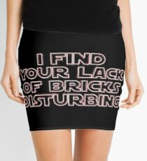 """I Find Your Lack of Bricks Disturbing"" by Customize My Minifig Mini Skirt"