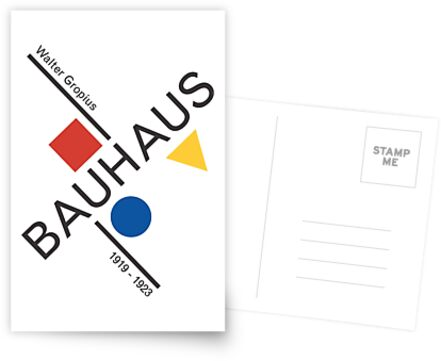 Bauhaus Movement Poster Artwork, 1919 Walter Gropius Reproduktion, Tshirt, T-Shirt, Jersey, Poster, Artwork von Art-O-Rama