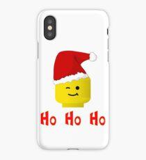 Santa Ho Ho Ho Minifig by Customize My Minifig iPhone Case