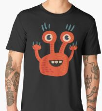 Cute Orange Monster Is Funny Too Men's Premium T-Shirt