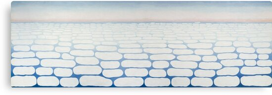 Georgia O Keeffe, Sky Above Clouds IV, Georgia OKeeffe, Keffe, Keffee, Keefe, Keeffee, Keeffe, minimalist, abstract, modern art, abstraction, Oil on canvas, Painting for sale, American Art by Art Gallery