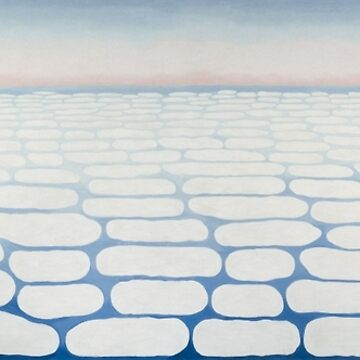 Georgia O'Keeffe, Sky Above Clouds IV, Georgia OKeeffe, Keffe, Keffee, Keefe, Keeffee, Keeffe, minimalist, abstract, minimal, modern art, abstraction by designteam