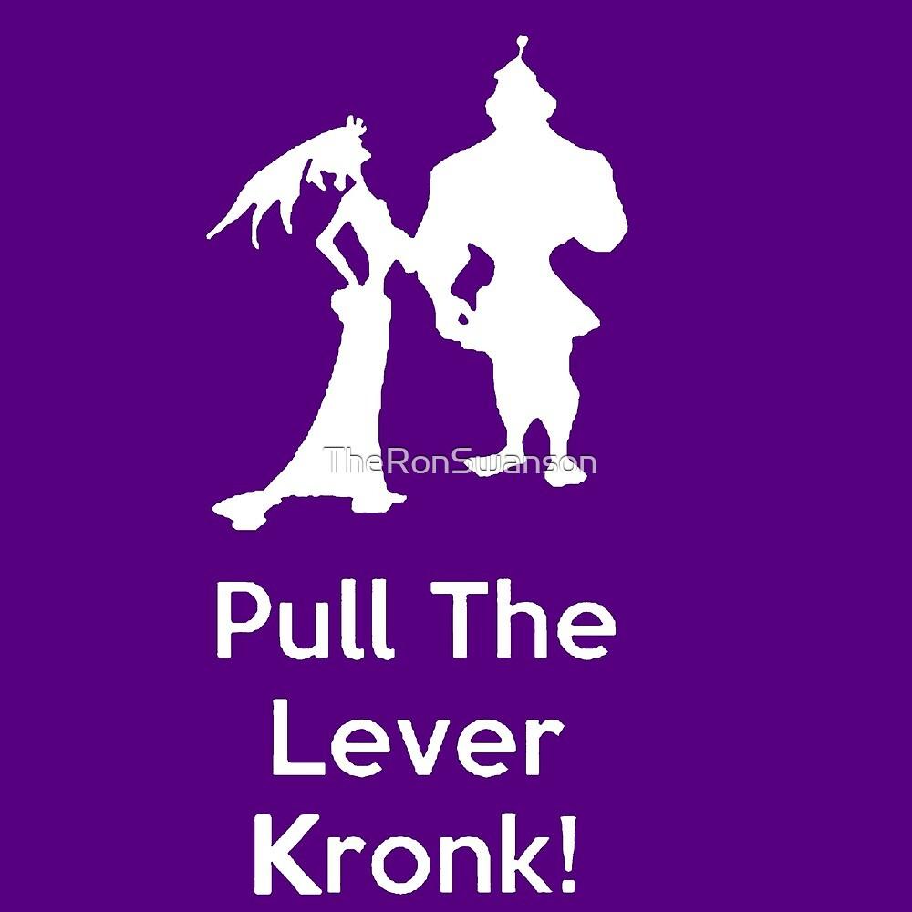 Ziehen Sie den Hebel Kronk - Lila Hintergrund von TheRonSwanson