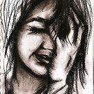 Charcoal portrait #1 by Rachel Kelly