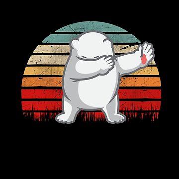 Retro Vintage Polar Bear Dab by TheTeeSupplyCo