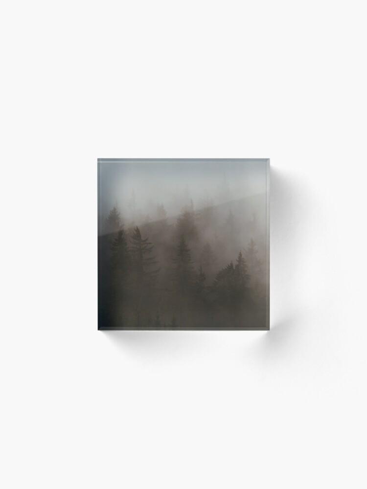 Bloc acrylique ''Forêt Brumeuse': autre vue