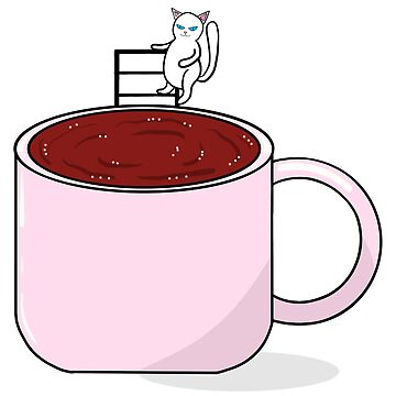 tea and cat by colorsofcherry