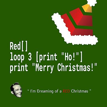 Ho! Ho! Ho! - Merry Christmas - Red / Red-lang Geek Shirt by madra