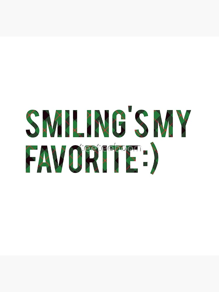 Smiling's My Favorite - Buddy the Elf, Elf Movie Fan Text Art |  Photographic Print