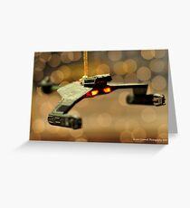Klingon Battle Cruiser Greeting Card