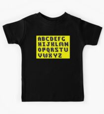 Brick Font Alphabet Kids Clothes