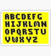 Brick Font Alphabet Sticker