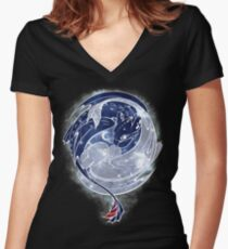 The Last Starry Dragons Women's Fitted V-Neck T-Shirt