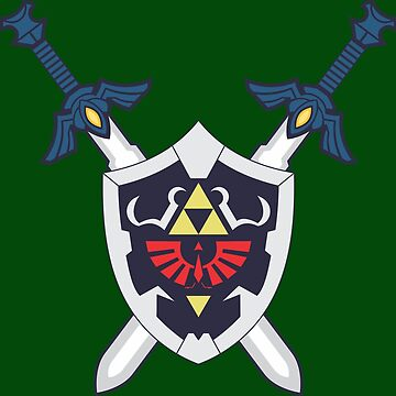 Hylian Shield and Master Sword Crest by johnnyr1108