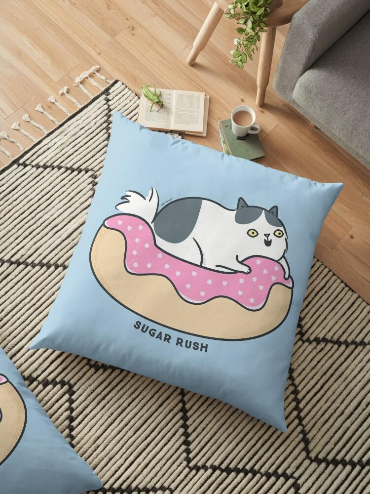 Sugar Rush Kitty Cat - black and white by zoel