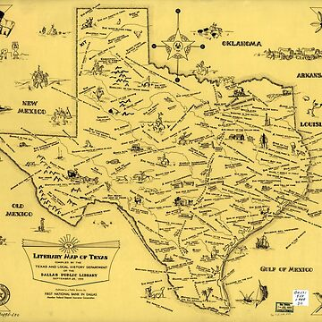 Literary Map of Texas (1955) by allhistory