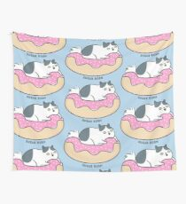 Sugar Rush Kitty Cat - black and white Wall Tapestry