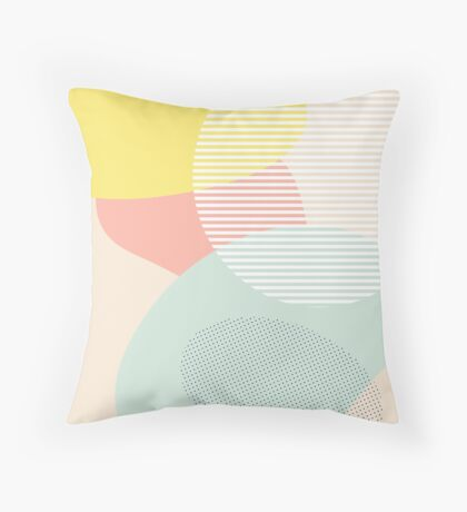 Lost In Shapes III #redbubble #buyart Throw Pillow