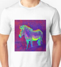 neon zebra Unisex T-Shirt