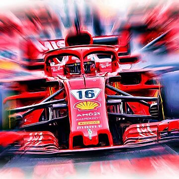 Charles Leclerc in Red # 16 by Glineur