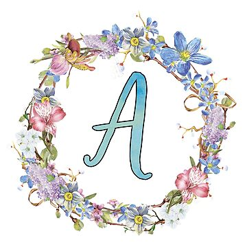 monogram letter a girly typography by untagged-shop