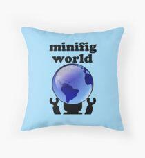 MINIFIG WORLD Throw Pillow