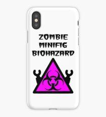 ZOMBIE MINIFIG BIOHAZARD iPhone Case