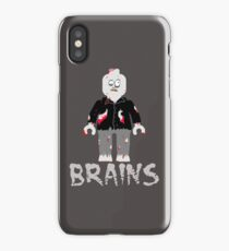 BRAINS ZOMBIE MINIFIG iPhone Case