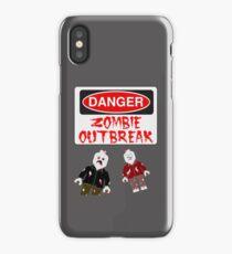 DANGER ZOMBIE OUTBREAK iPhone Case