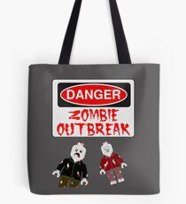 DANGER ZOMBIE OUTBREAK Tote Bag
