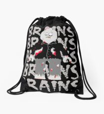 BRAINS BRAINS BRAINS BRAINS BRAINS Drawstring Bag
