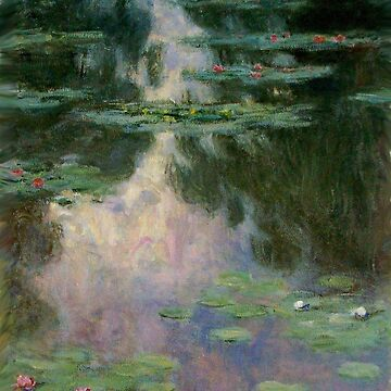 WATER LILIES AND GREEN REFLECTIONS Claud Monet by BulganLumini