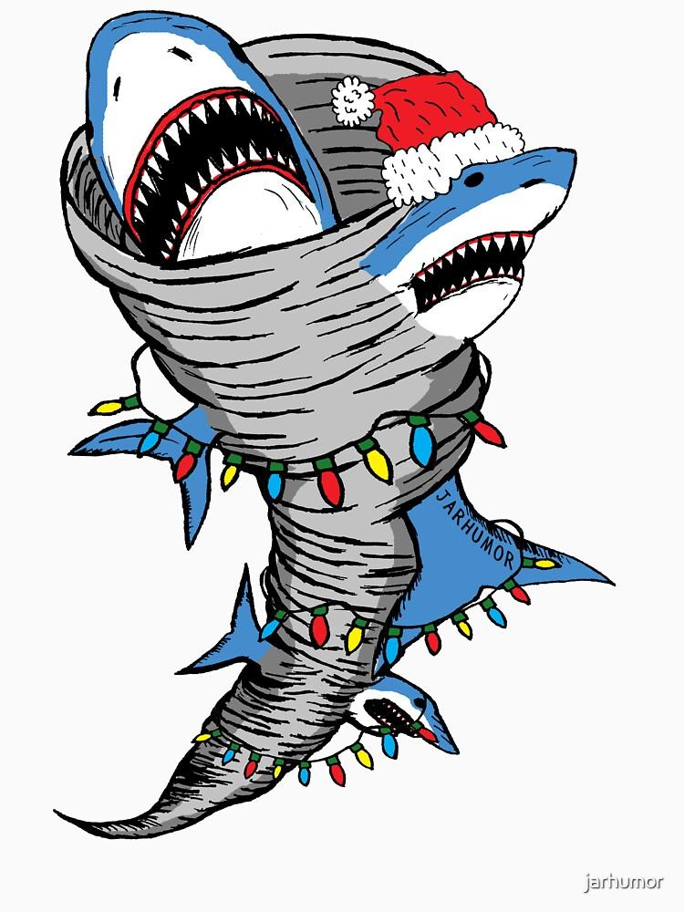 Santa Shark Tornado by jarhumor