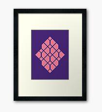 Diamonds - Geometric Pattern (Purple/Pink) Framed Print