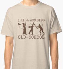 Funny Retro Old School Zombie Killer Hunter 2 Classic T-Shirt