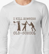 Funny Retro Old School Zombie Killer Hunter 2 T-Shirt