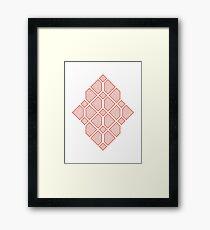 Diamonds - Geometric Sketch Pattern (Orange) Framed Print