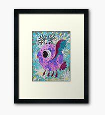 Fat Bird in dark Gothic style inspirited by Van Gogh Framed Print