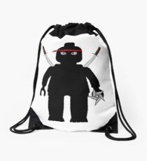 Ninja Minifig / TMNT Foot Soldier Drawstring Bag