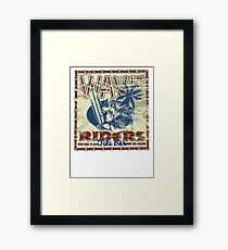 wave riders tiki bar Framed Print