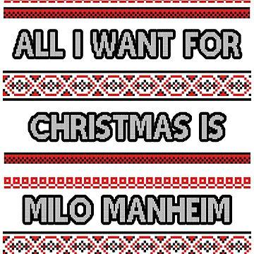 Ugly Christmas Sweater - Milo Manheim by amandamedeiros