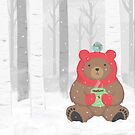 Cozy Winter Bear by raediocloud