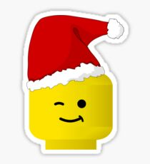 Santa Minifig by Customize My Minifig Sticker