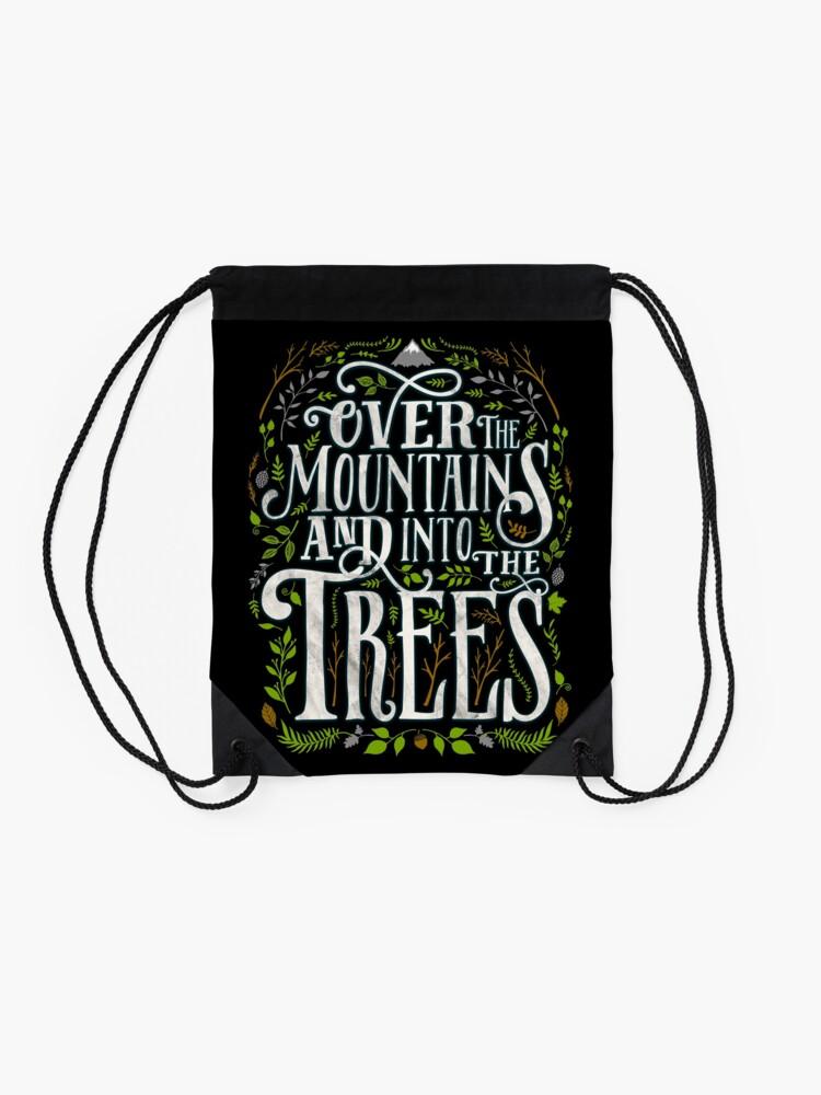 Alternative Ansicht von Über die Berge und in die Bäume Turnbeutel