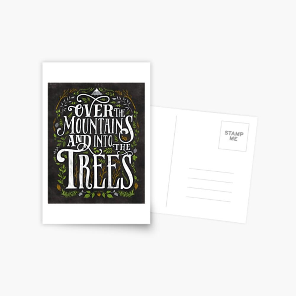Über die Berge und in die Bäume Postkarte