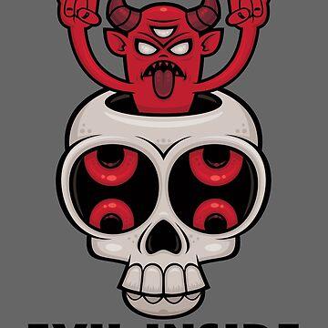 Possessed Skull Evil Inside by fizzgig