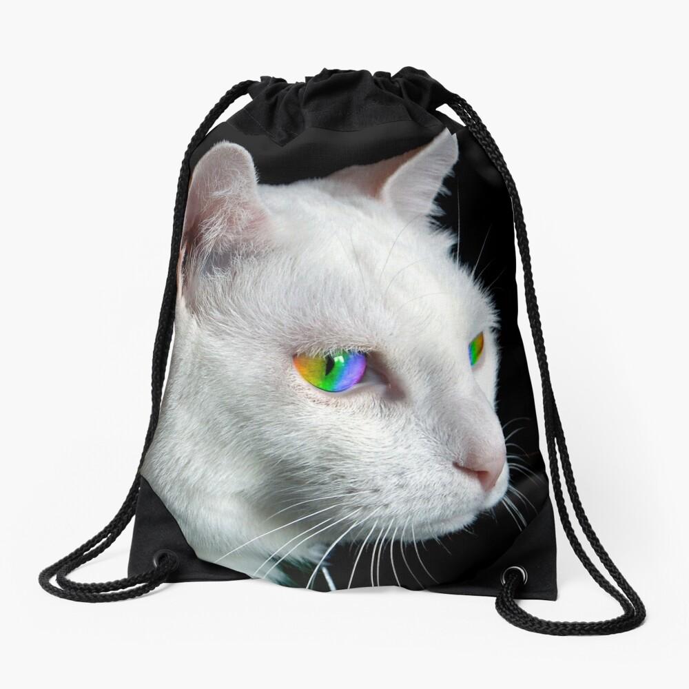 Pride Cat's Eyes Drawstring Bag