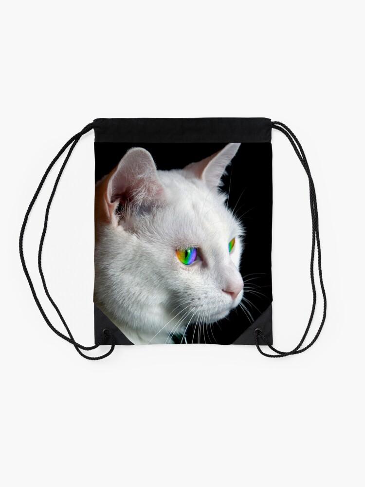 Alternate view of Pride Cat's Eyes Drawstring Bag