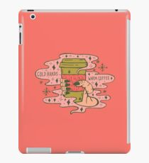Cold Hands, Warm Coffee in Coral iPad Case/Skin